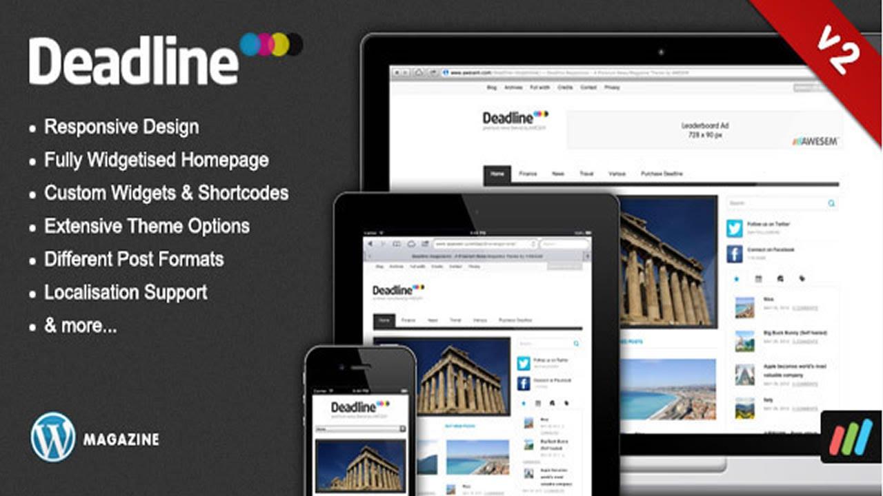 Deadline - Responsive WordPress News / Magazine Theme - YouTube