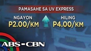 Matapos ang jeep at taxi, UV Express humirit ng doble taas-pasahe