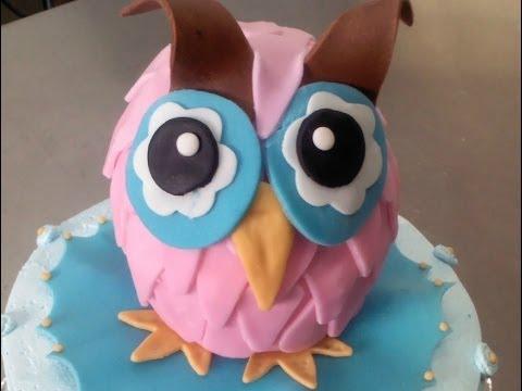 D Owl Cake Youtube