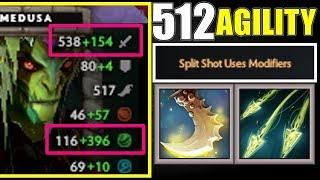 512 Agility 84 Armor Insane Medusa   Dota 2 Ability Draft