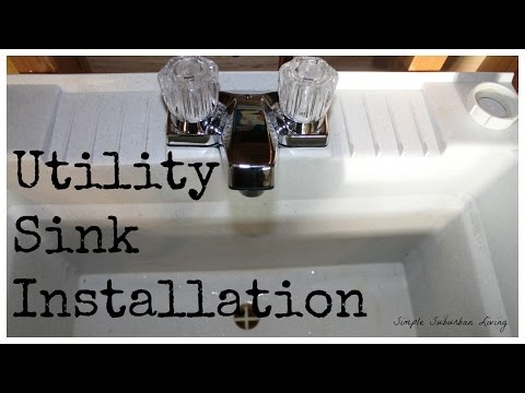 utility-sink-installation---the-drain