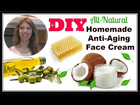 DIY Coconut Oil and More   Homemade Anti-Aging, Anti-Wrinkle Face Oil Cream Beeswax Butter