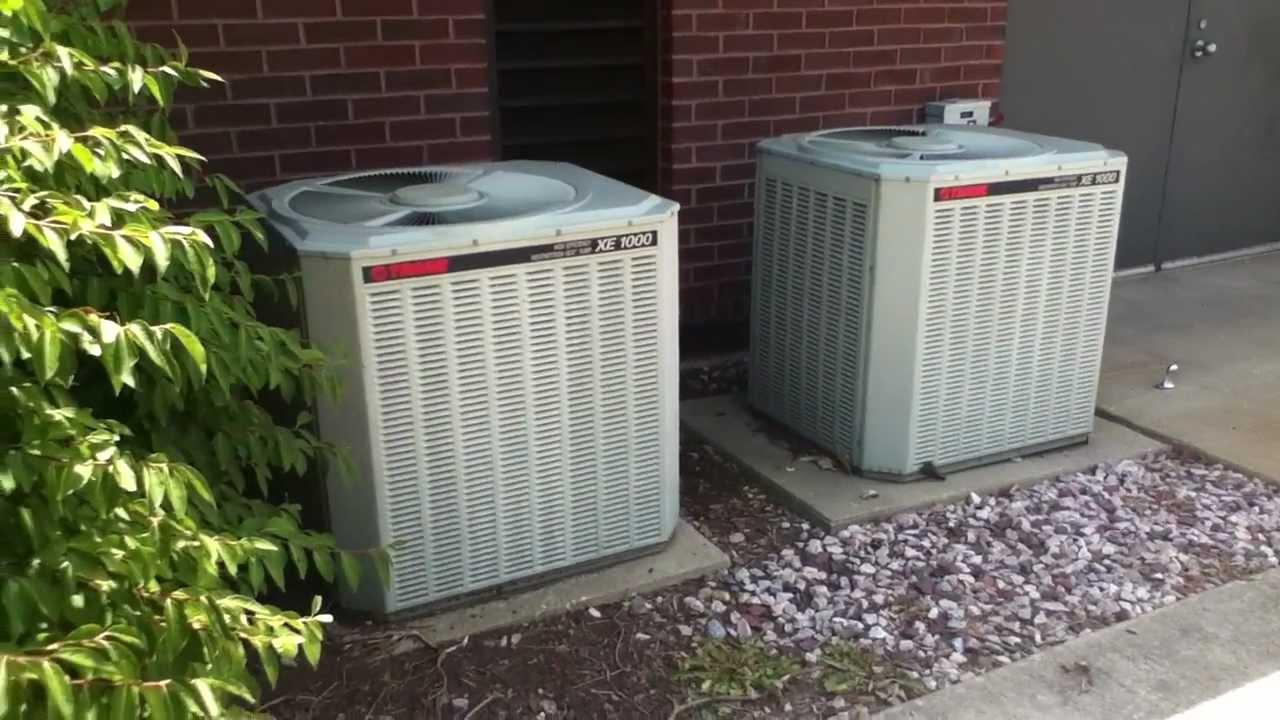 Dual Zone Trane Xe1000 Heat Pumps Running In Cool Mode