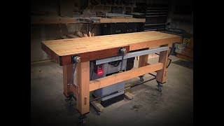 Inexpensive Woodworking Workbench With Mobile Base And Easy Storage