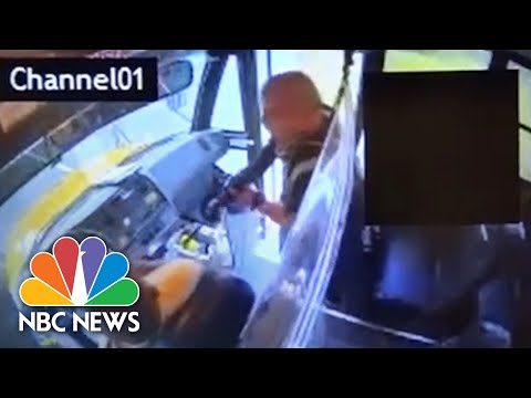 See Moment School Bus Hijacked By Armed Man.  Yikes!