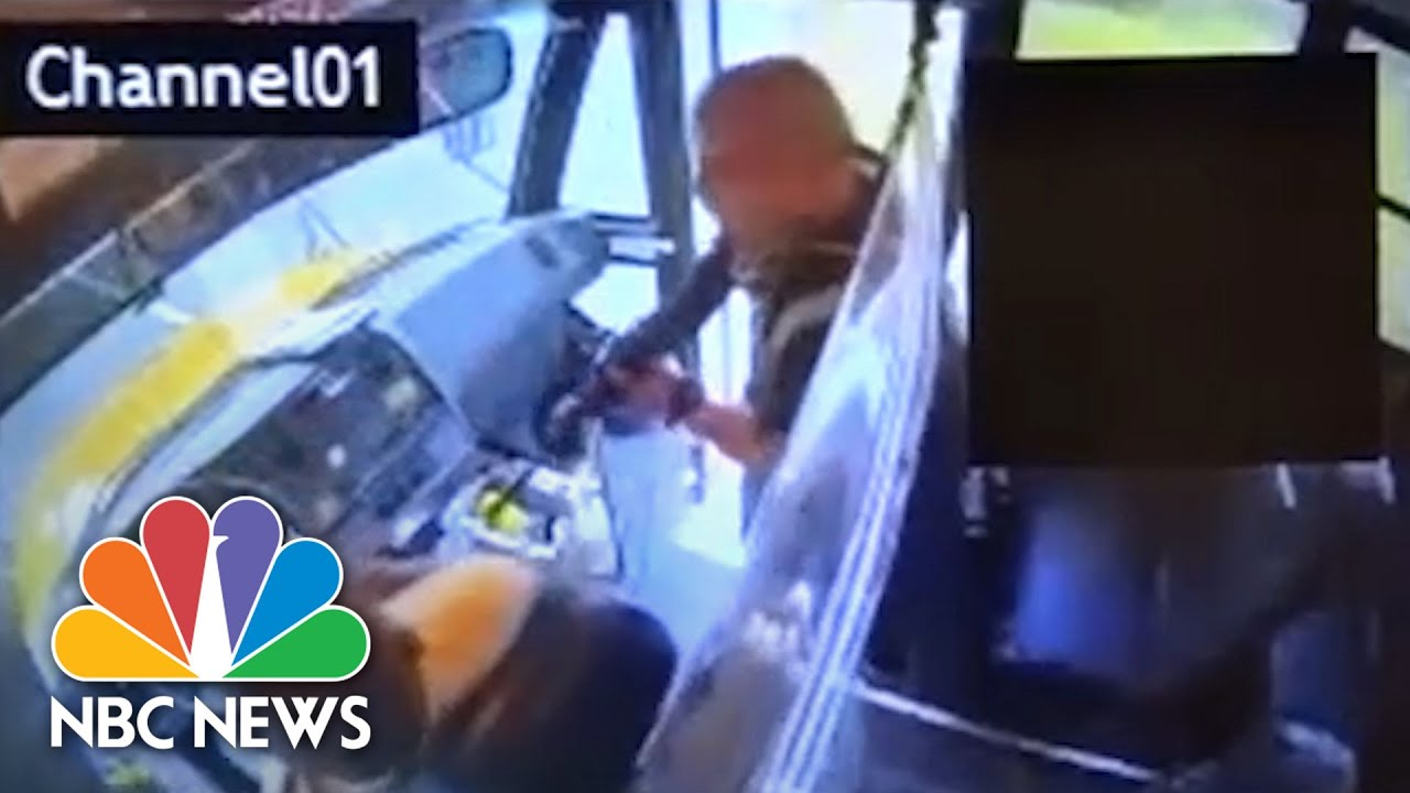 Video Shows Moment School Bus Hijacked By Armed Man | NBC News