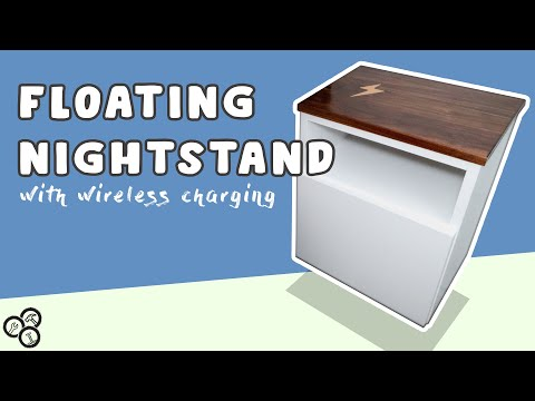 Floating Nightstand with Wireless Charging | How To | DIY