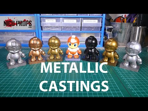Cold casting metallic powders