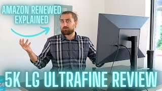 UNBOXING 5k LG Ultrafine Monitor from AMAZON RENEWED!
