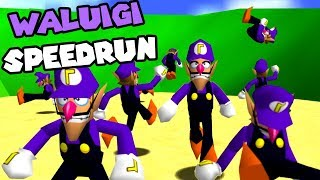 10 Youtubers VS 1 Speedrunner but everyone's Waluigi