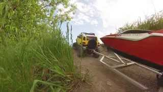 RC Scale Crawler 4x4 - FJ Cruiser Taking the Boat for a ride!
