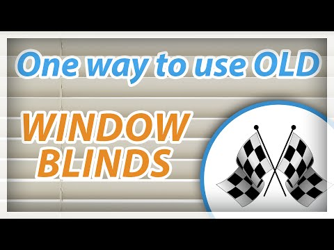 One way to use old window blinds...