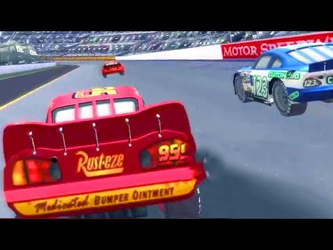 Cars 1 the Videogame 360 - Lightning Mcqueen S1 VS PISTON CUP CHAMPION MOTOR SPEEDWAY