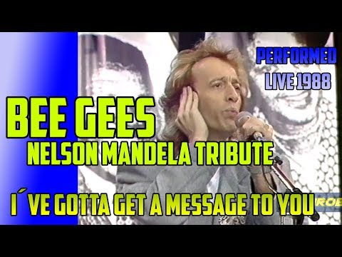 BEE GEES  I´ve Gotta Get A Message To You  - LIVE @Nelson Mandela Tribute Concert 11th June 1988
