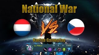 Mobile Legends National War NL vs CZ | Karina Gameplay