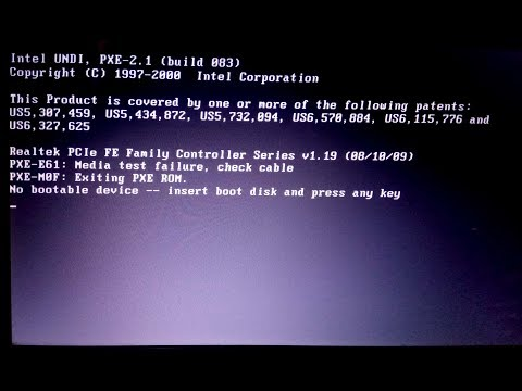 How to Fix Media Test Failure, Check Cable (No Bootable Device) | 100% Worked