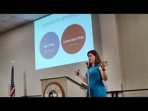 Dr. Elizabeth Barre: Neutrality and the Secular State @ Humanists of Houston July 2016