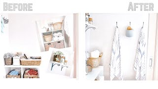 TOILET ROOM TRANSFORMATION | Bathroom | Target and Kmart home decor | Amelia and Bridie