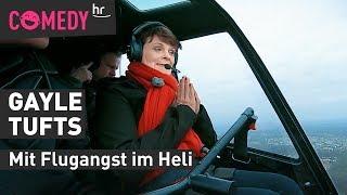 Flugangst-Challenge für Gayle Tufts: Mit dem Heli über Frankfurt