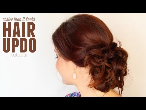 Easier Than It Looks Updo Hair Tutorial Youtube
