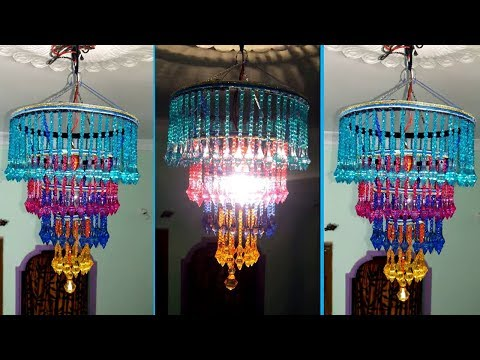How To Make Jhumar/Chandelier   Wall Hanging Decoration   Beaded Chandelier   Home Decorating Ideas