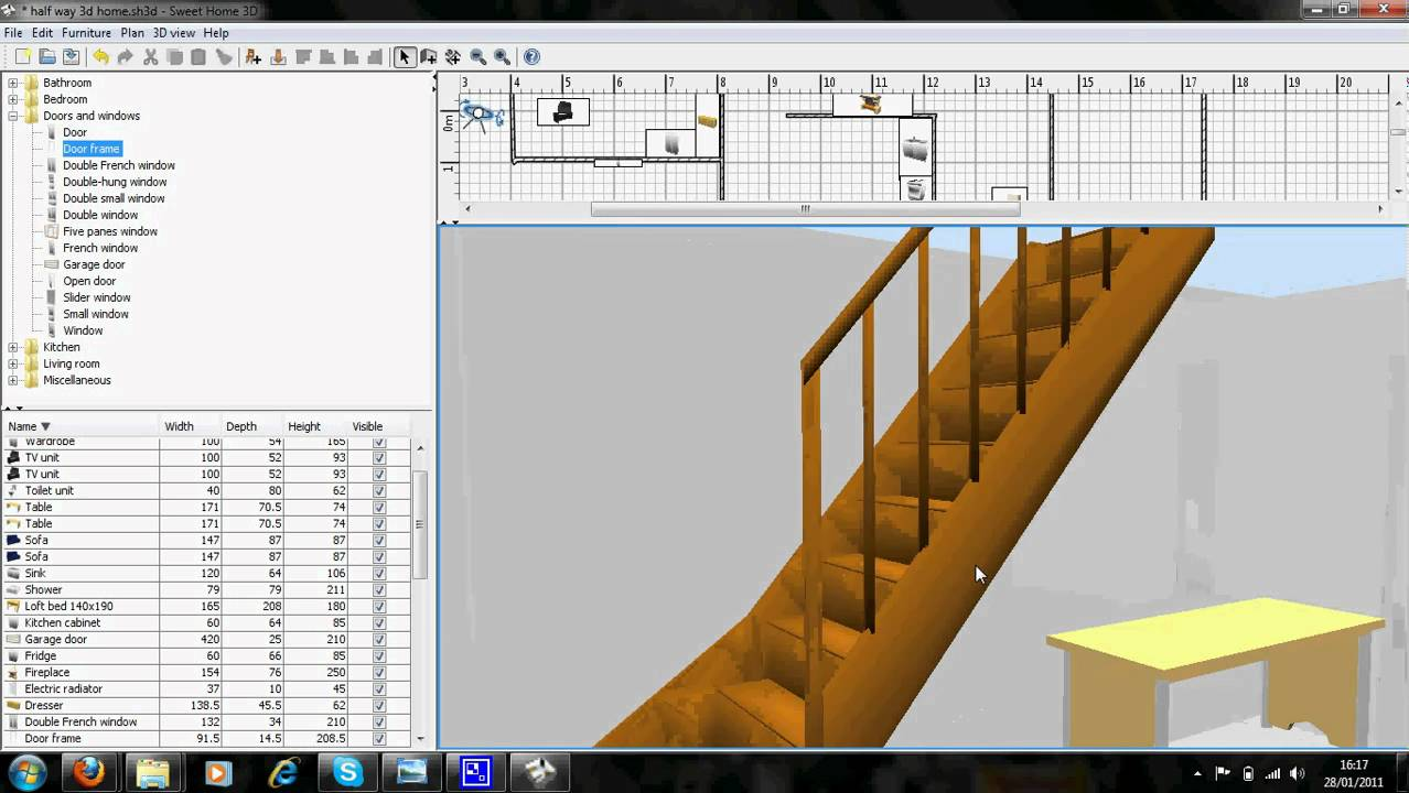 Download sweet home 3d for windows to draw the plan of your home and view the result in a 3d view. Sweet Home 3d Youtube