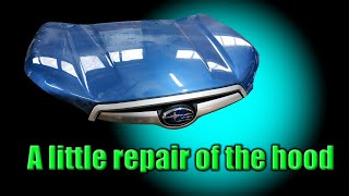 Subaru. A hood repair. Ремонт капота.