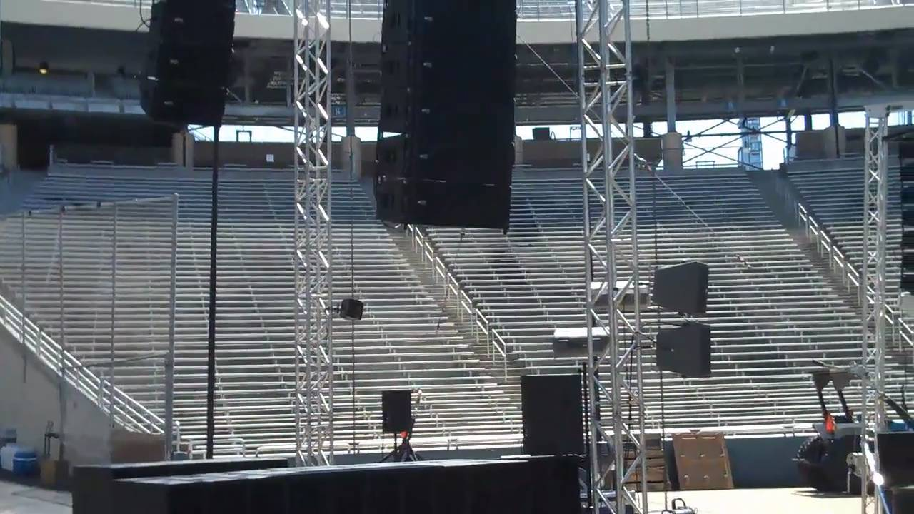 Rcf Line Array Ttl55 A Tts 56 A Demo In The Cotton Bowl In