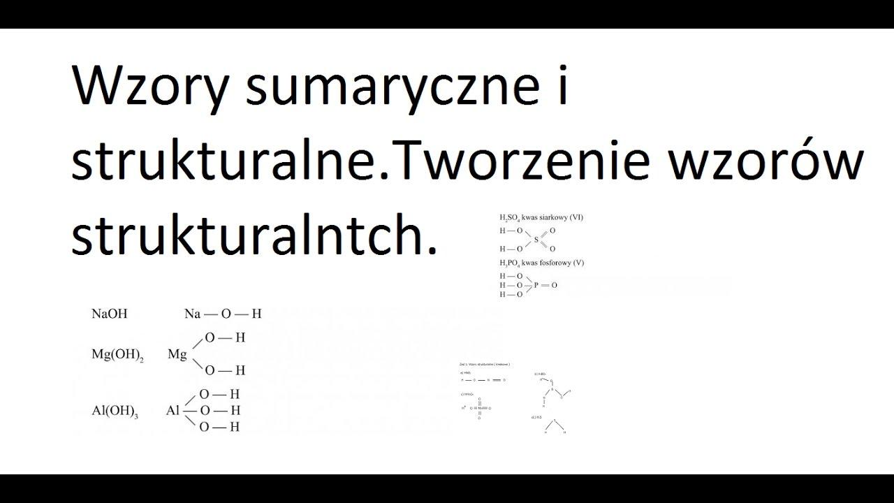 chemia klasa 7 wzory sumaryczne i strukturalne