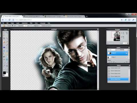 Pixlr Tutorial Collage (Harry Potter) Part 1/2