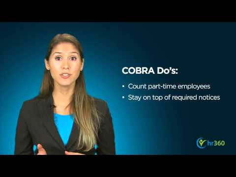 COBRA Mistakes – Do's And Don'ts