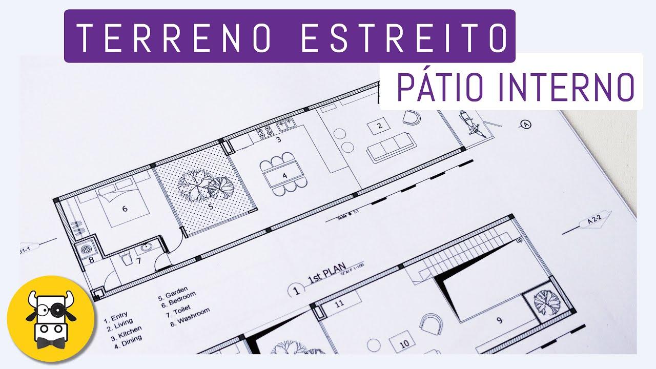 Download TERRENO ESTREITO - 4 METROS - SOLUÇÃO CRIATIVA - CURSO DE ARQUITETURA