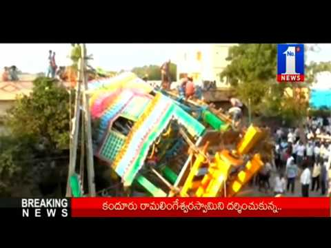 Tragedy |100ft Praba Fell Down at Guntur on Mahashivaratri || No.1 News