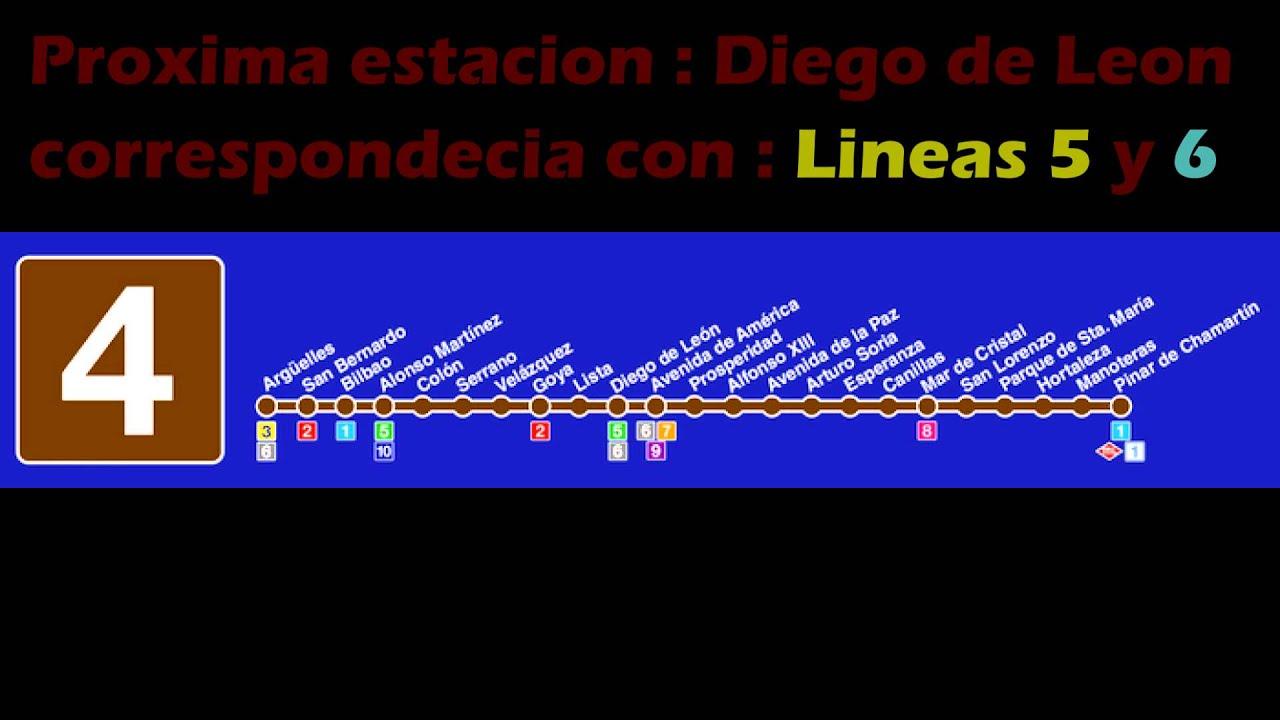 Metro De Madrid Megafonia Linea 4 Youtube