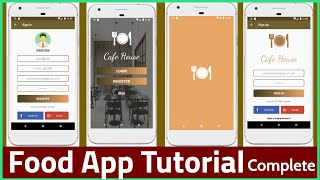 Android app Development Tutorial in Hindi - Responsive Food App tutorial