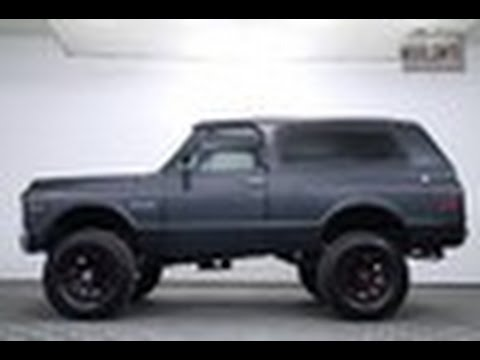 Chevy Blazer 4x4 >> 1972 Chevrolet K5 Blazer 4x4 for sale - YouTube
