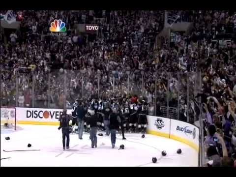 3b8ad71e5b7 Bob Miller calls Los Angeles Kings 2012 Stanley Cup win - YouTube