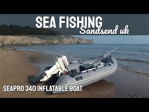 Sea Fishing - SIB Boat Fishing - Sandsend, UK In A SeaPro Inflatable Boat - GoPro