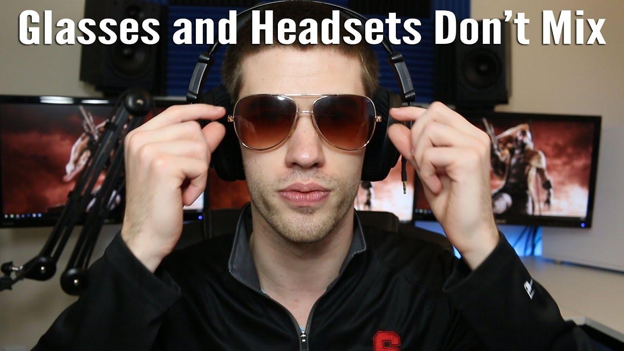 e79e47fd80b How to Make Headsets Comfortable for People Wearing Glasses - YouTube