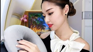 [ASMR] 4 Hours! First Class Flight Attendant VIP Treatment