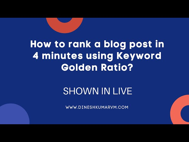 How to rank a blog post within 4 minutes of publishing? | SHOWN IN LIVE
