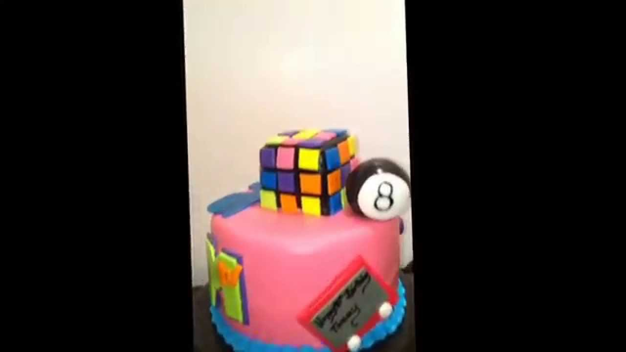 80s Theme Birthday Cake Cakebossofchester