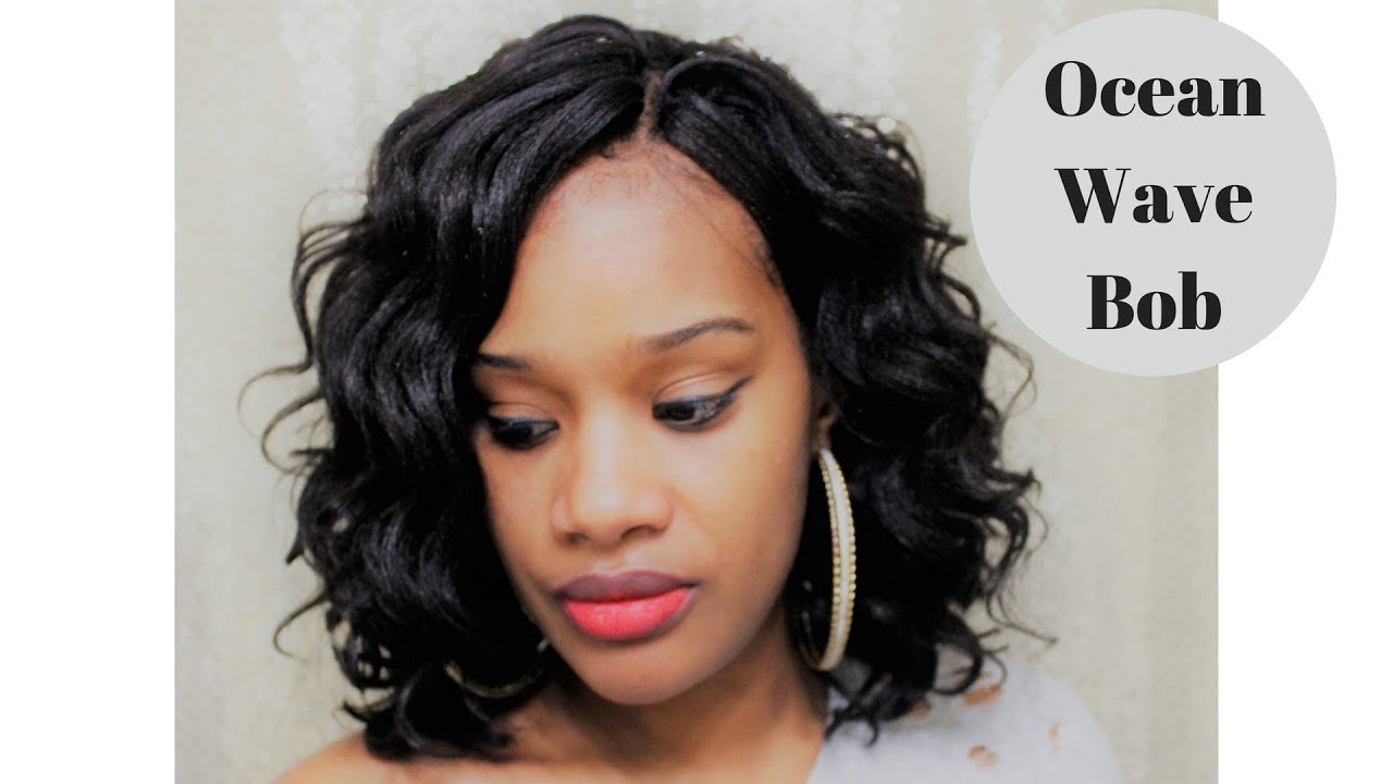 Ocean Wave Bob Using Crochet Braids Harlem 125 Kima
