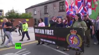 """Muslim pedos off our streets"": Britain First protest in Rochdale"