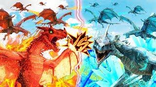 DRAGONES DE FUEGO VS DRAGONES DE HIELO   ARK #71