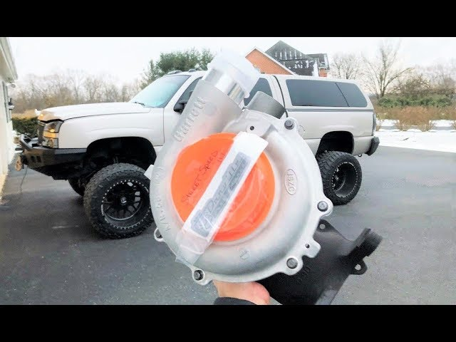 biggest-turbo-i-ve-ever-seen-for-the-duramax-f450-rematch