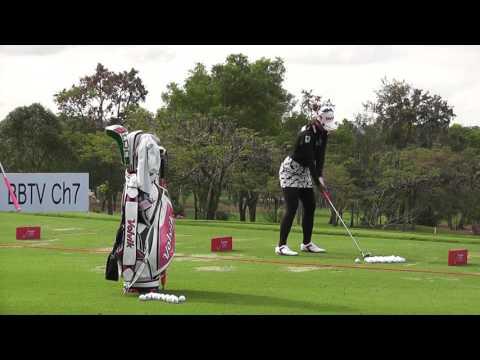 Honda LPGA Thailand 2017 Pornanong Phatlum's golf swing at siam country club pattaya old course