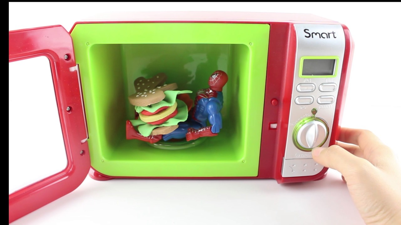 Just Like Home Toy Food : Spiderman just like home microwave oven toy play dough