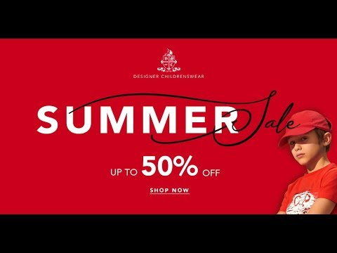 912333596 Designer Childrenswear Summer Sale up to 50% OFF