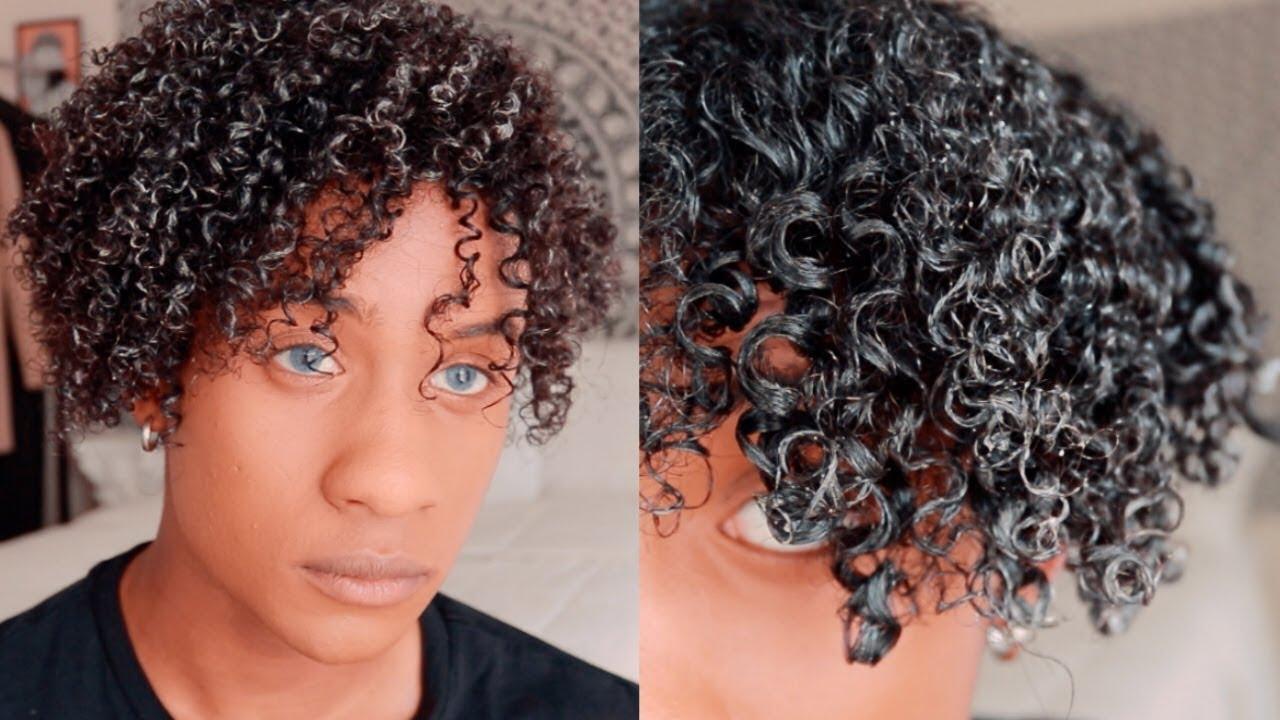 men's curly hair routine super